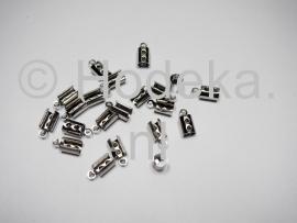 BVK16 8 x  RVS  Veterklem 10 x 5 mm Antiek zilver