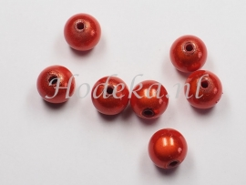 MIR10/09  8 X miracle beads  Warm Oranje 10mm