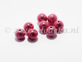 MIR10/26  8 X miracle beads  Roze 10mm