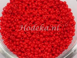 CRP10/56a  50 gram Preciosa Rocailles 10/0 Rood