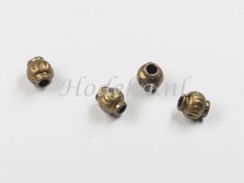 MTL96   18 x Metalen kraal 5.5 x 5mm Brons