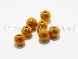 MIR10/29  8 X miracle beads Geel 10mm