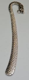 BKL05 1x boekenlegger draak  antiek zilver 123 x 26mm