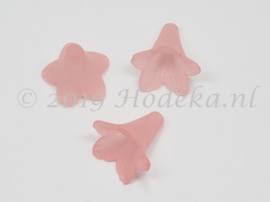 BVE69  3 x bloem 24 x 22mm Roze