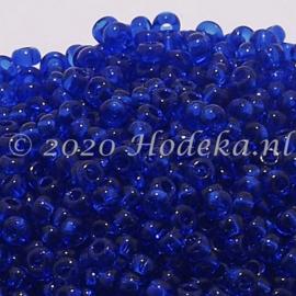 CRP11/80a  50 gram Preciosa Rocailles 11/0 Donkerblauw transparant