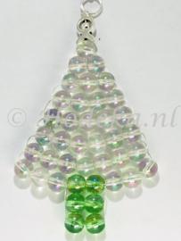"""KBP08 Hanger kerstboom """"Transparant Parelmoer"""""""
