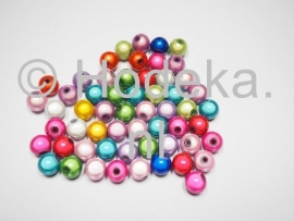 MIR08/14  60 X miracle beads Mix kleuren  ca. 8mm
