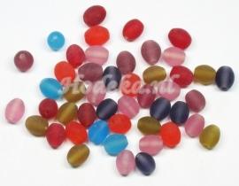 KLM08 50 gram Glaskralen mix ovaal