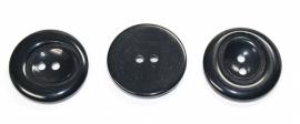 KNO01a 5 x  Zwarte knoop ca. 30 mm