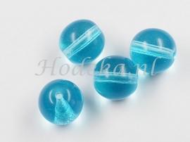 GLR61a  40 x Glaskraal Licht Blauw 11mm