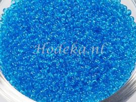 CRP11/50  12 gram Preciosa Rocailles 11/0 Blauw transparant