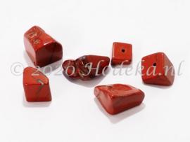 NSG11 12 x Natuursteen Kraal Rode/Bruine steen Jaspis