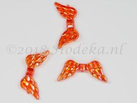 MTV35  8 x acryl Vleugel Transparant Oranje AB 20 x 9 mm