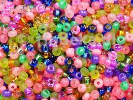 CRP11/17a  50 gram Preciosa Rocailles 11/0 Mix diverse kleuren