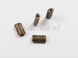 MTL97   8 x Metalen kraal  9 x 3 mm Brons