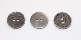 KNO05a  5 x Prachtige metalen knoop ca. 21 mm
