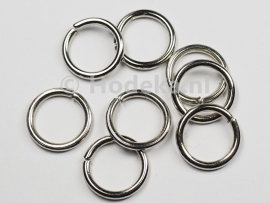 BHR14   16 ringetjes 12 mm  -sterk- Antiek zilver