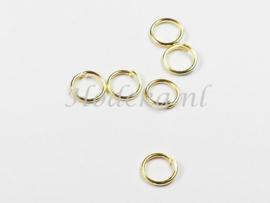 BHR21   50 x ringetjes 6mm Goudkleur