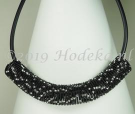 SKP02  Spiraalketting pakket Zwart - zilver
