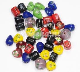 GMM31   50 gram Glaskralen in diverse Kleuren