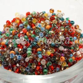 CRP11/85a  50 gram Preciosa Rocailles 11/0 & 11/0 mix