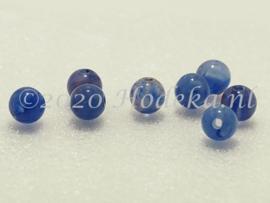 ACP06/08a   100 x acryl kraal rond 6mm Gemêleerd Donker Blauw