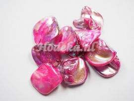 SCH05   1 x Schelp Roze met olie glans