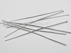 BNK05  20 x Nietpen zilver 70mm