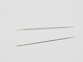 BNN02a 5 x Big Eye Beading Needle 55x0.5mm