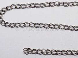 KBH15  10 cm. Ketting Antiek zilver ca. 6 x 4 mm