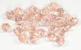 FCR06/09  12 x glaskraal facet Roze 6 mm