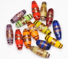 KLM22   50 gram Glaskralen mix  Ovaal