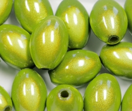 MIO14/20   6 X miracle bead Groen ca. 14mm