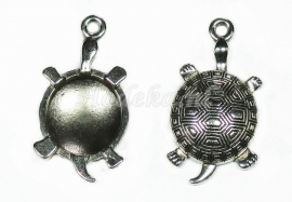 BDG15  1 x Bedel Schildpad Antiek Zilver 34 x 18mm