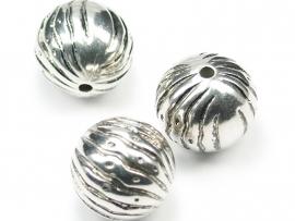 MLK10a   15 x  Metallook kraal Rond 20mm antiek zilver