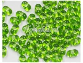 Opruiming van de CFP10  12 gram Vlinderkraal (Preciosa Farfalle) 4 mm Groen Transparant