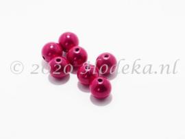 MIR10/31  8 X miracle beads Fuchsia 10mm