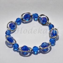 ABP01-03  Armband met verdelers blauw