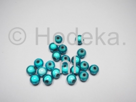 MIR08/12  12 X miracle beads Blauw / groen  ca. 8mm