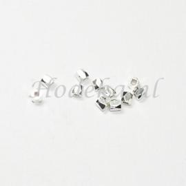 MTL65   15 x metalen kraal  3 mm Antiek Zilver