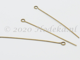 BNK10  30 x Kettelstift Brons 50mm