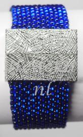 PPT02   1 x Precious armband pakket Blauw silverlined