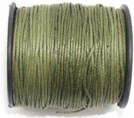 KAD11 katoendraad  Leger Groen 1mm per meter