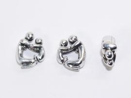 PDM01 1 x pandora style metalen kraal Ouder/Kind