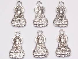 BDG03  1 x Bedel  Shiva Antiek Zilver 26 x 14mm