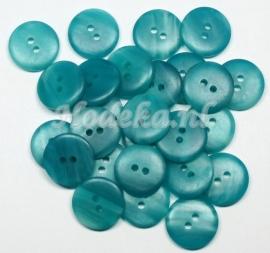 KNO40  1 x  gemêleerd Blauwe knoop ca. 15 x 4 mm