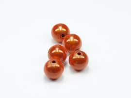 MIR10/11  10 X miracle beads Oranje  ca. 10mm