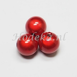 MIR14/11  4 X miracle beads Rood  ca. 14mm