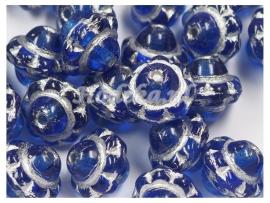 CZR13a  40 x Tsjechische Glaskraal Rond 8mm Blauw