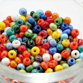 CRP06/70a  50 gram Preciosa Rocailles 6/0 Kleuren mix glans